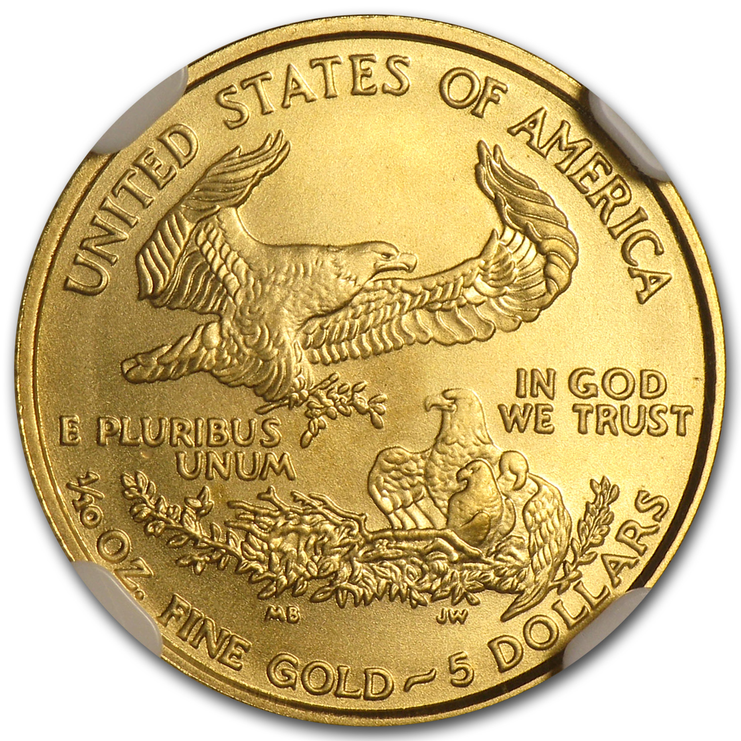 2007-W 1/10 oz Burnished Gold American Eagle MS-69 NGC